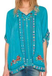 Johnny Was Embroidered Boho Vintage Tunic