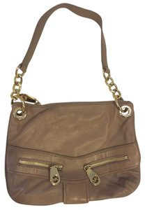 Michael Kors Small Over The Gold Leather Shoulder Bag
