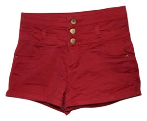 Refuge Jeans Cuffed Shorts red
