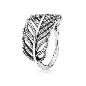 PANDORA Light As A Feather Ring, Clear CZ