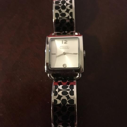 Coach OFFERS!!! EUC HTF Coach Black Scribble Stainless Watch Image 1