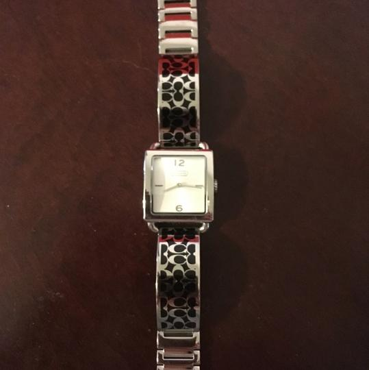 Coach OFFERS!!! EUC HTF Coach Black Scribble Stainless Watch Image 2