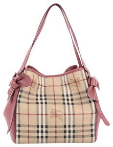 Burberry Canvas Leather Tote