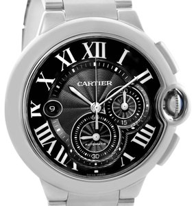 Cartier Cartier Ballon Bleu XL Black Dial Cronograph Steel Mens Watch W6920077
