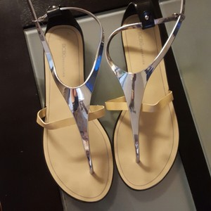 BCBGeneration tan and silver Sandals