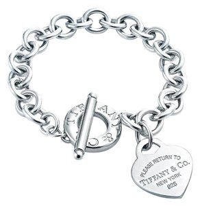 Tiffany & Co. Please Return To Tiffany Toggle Bracelet With Heart Charm 8
