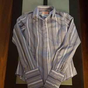 Thomas Pink Button Down Shirt blue and grey