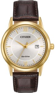 Citizen Citizen Eco-Drive Leather Mens Watch AW1232-04A