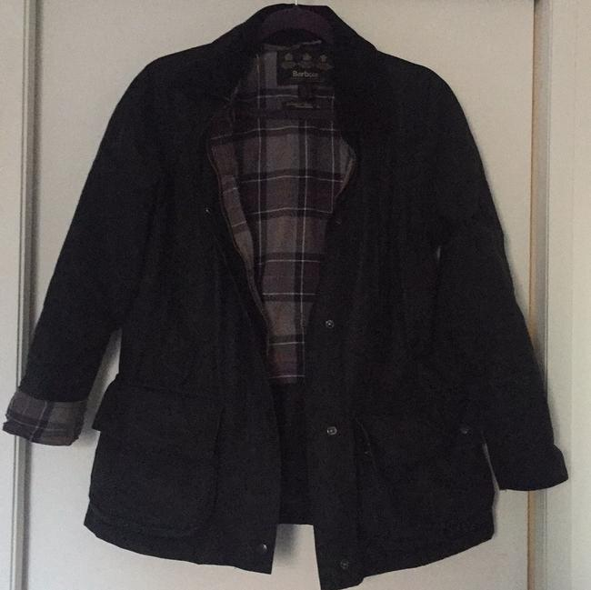 Item - Black Beadnell Wax Jacket with Hood Coat Size 6 (S)