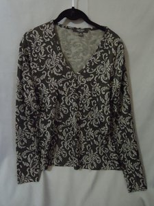 Karen Kane Stretchy Top black and silver