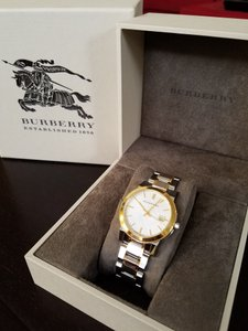Burberry Burberry Check Dial Two-Tone Ladies Watch BU9115