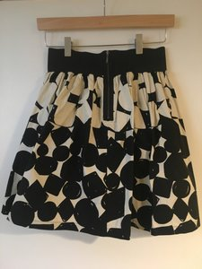 Anthropologie Skirt Black with Ivory Pattern
