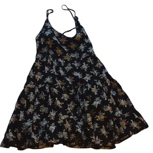 Brandy Melville short dress Black Floral Crisscross Strap Strappy Summer on Tradesy