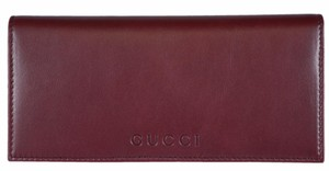 Gucci New Gucci Women's 305282 Scarlotto Red Leather W/Coin Pocket Wallet