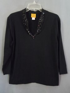Ruby Rd. Beaded Top black