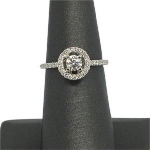 Other 14K White Gold Natural Diamond Halo Ring
