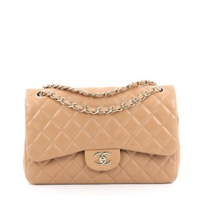 Chanel Classic Double Flap Lambskin Shoulder Bag