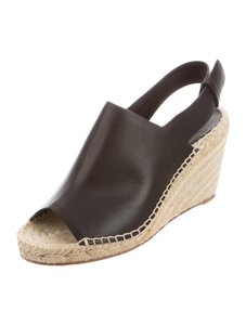 Cline Wedge Espadrille Black Sandals