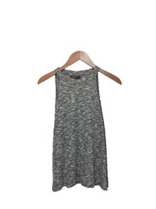 Topshop Sleeveless Summer Knit Cotton Polyester Top GREY/ MARBLE
