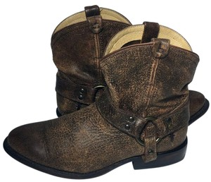 Frye 76683 Wyatt Cowgirl 7.5 Harness Women's 7.5 Brown Boots