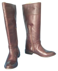 Frye Leather Vintage Riding Brown Boots