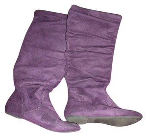 Other Slouchy Faux Suede Calf High Gypsy Boho Purple Boots