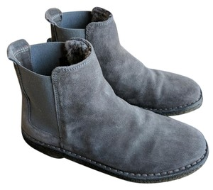 Vince Shearling Chelsea Suede Charcoal Boots