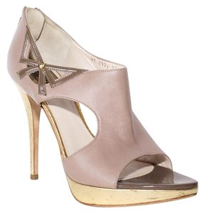 Dior Leather Gold taupe Sandals