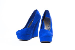 Brash Slip On Blue Wedges