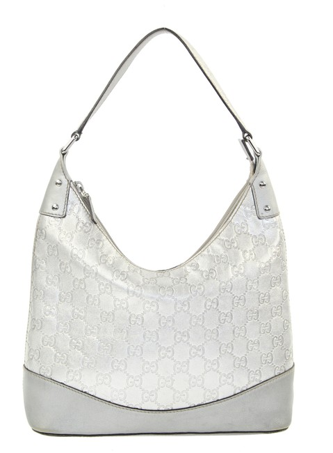Item - ssima Silver Leather Hobo Bag