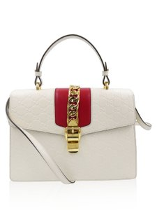 Gucci Satchel in white and red