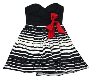 Trixxi Sweetheart Bow Stripes Cocktail Party Dress