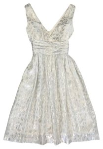 Trina Turk Wedding Metallic White Party Dress