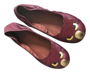 Marc Jacobs Cat Red Burgundy Flats