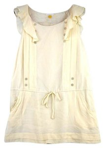 Anthropologie short dress Ivory Anthro White Dropwaist Vintage on Tradesy