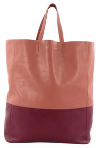 Céline Leather Tote in Pink