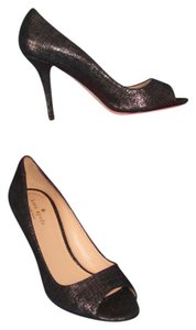 Kate Spade Peep Toe Stiletto Heels Black Pumps