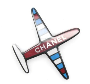 Chanel #10581 16S CC large airplane Brooch pin charm