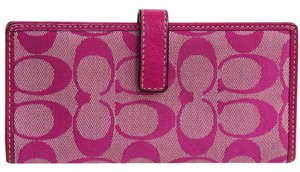 Coach Pretty Bright Pink Signature Bifold Wallet