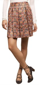 Anthropologie Mini Skirt Bright Red