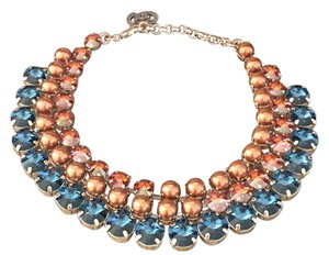 Gucci New Gucci Collier Necklace With Swarovski Crystals Blue and Bronze