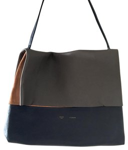 Céline Tote Color Block Phoebe Philo Suede Leather Shoulder Bag