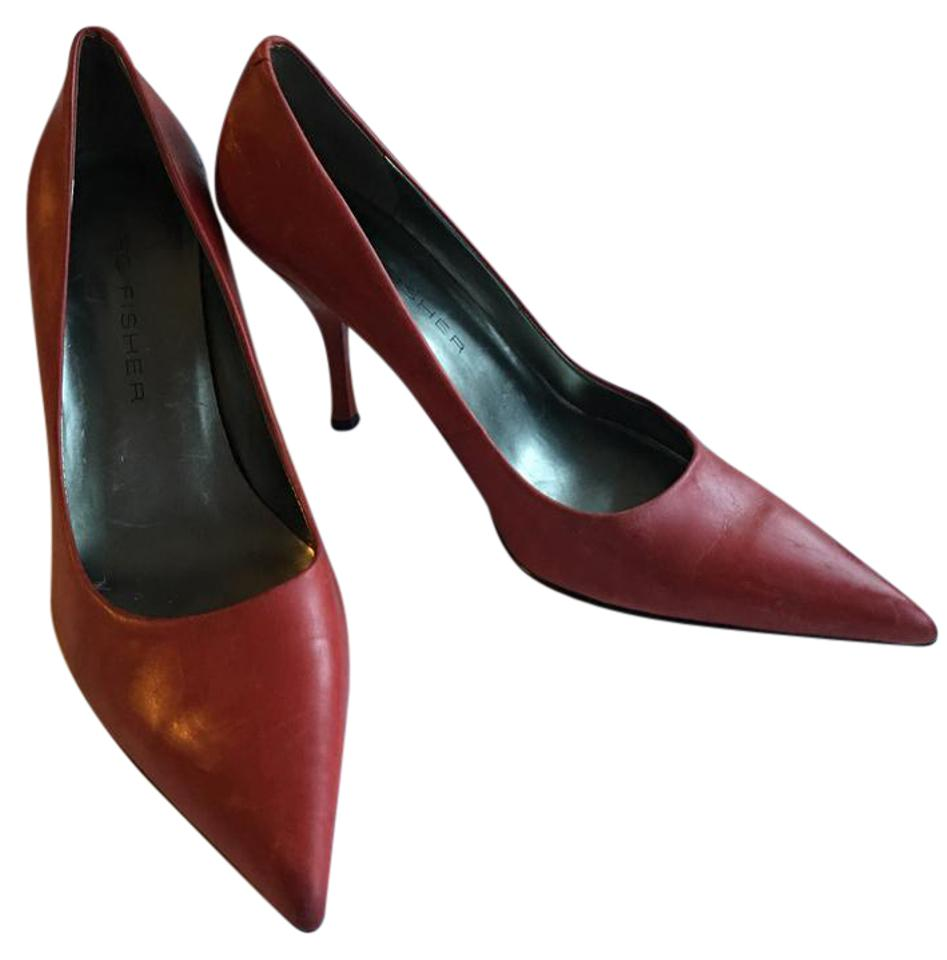 Marc Fisher Red Stiletto Pointed Stiletto Red Pumps 285247