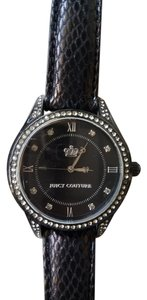 Juicy Couture Juicy Couture Black Leather Strap Watch