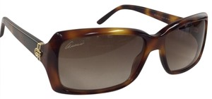 Gucci New Gucci GG 3590/S 05LJD Brown Gold Plastic Style Sunglasses 125mm