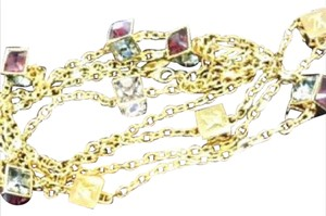 Louis Vuitton Gold-Tone Swarovski Éclatant Gamble Necklace