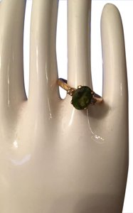 Other New Women's 14k Yellow Gold Lab Created Peridot Ring size 6.5