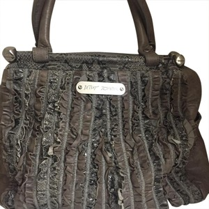 Betsey Johnson Satchel in Gray/black