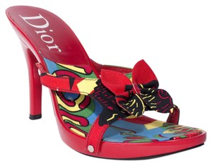 Dior Butterfly Red red/multi Sandals