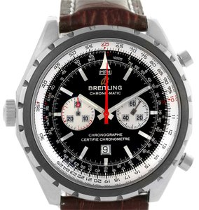 Breitling Breitling Chronomatic Left Crown Steel Mens Watch A41360 Box Papers